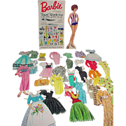 1964 Barbie Paper Doll Travel Wardrobe with Clothes of other Lands, Cut