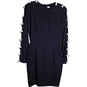 RIAZEE BOUTIQUE, Long Sleeve,Cocktail Length Dress.