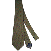 Vintage Men's Lanvin Silk Neck Tie, 1980's