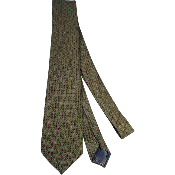 Vintage Men's Lanvin Silk Neck Tie, 1980's