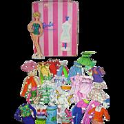 Whiteman Barbie Fahsion WIndow Wardrobe Paper Dolls, 1965, Cut