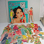 Elizabeth Taylor Paper Dolls, Cut, Whitman, 1952