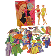 Piper Laurie Paper Dolls, Merrill, 1953, Cut