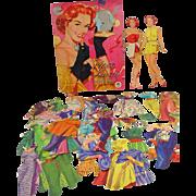 Piper Laurie Paper Dolls, Merrill, 1953, Cut