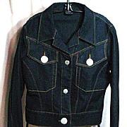 VINTAGE, FUBU, Dark Stretch Denim Jacket