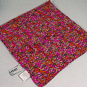 Vintage Emilio Pucci Ladies Silk Pocket Square/Handkerchief