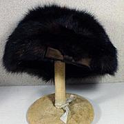 Vintage Ladies Mink Fur Hat, 1960's