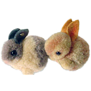 Vintage Pair of Steiff Bunny Rabbits, 1960's