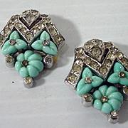 "Alfred Philippe ""TKF"" Trifari Dress Clips, 1930's"