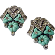 "Alfred Philippe ""TKF"" Trifari Dress Clips, 1930's"