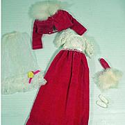 Vintage Mattel Francie Outfit, Waltz In Velvet, 1970