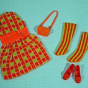 Vintage Mattel Francie Outfit, Mini-Chex, 1968