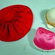 Mattel Vintage Barbie Glamour Hats, Pak Set, 1966, Rare!