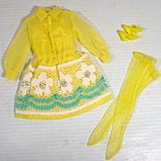 Vintage Mattel Barbie Outfit, Shirt Dressy, 1969