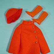 Vintage Mod Mattel Barbie Outfit, Fiery Felt, 1970