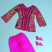 Vintage Mattel Barbie Outfit, Bright 'N Brocade, 1970