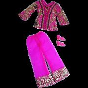 Vintage Mattel Barbie Outfit, Bright 'N Brocade, 1970