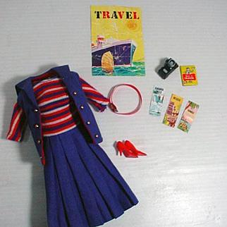 Vintage Mattel Barbie Outfit, Aboard Ship, 1965