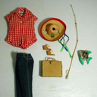 Vintage Mattel Barbie Outfit, Picnic Set, Complete, 1960