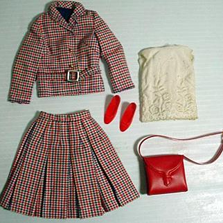 Vintage Mattel Francie Outfit, Check-Mates, 1966