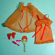 Mattel Vintage Francie Outfit, Snooze News, 1969, Complete