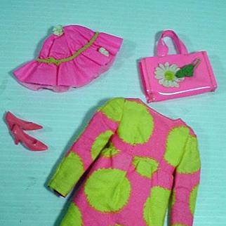 Mattel Vintage Francie Outfit, Sun Spots, 1967, Complete!