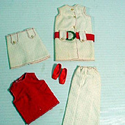 Mattel Vintage Francie Outfit, With-It Whites, 1971, Complete