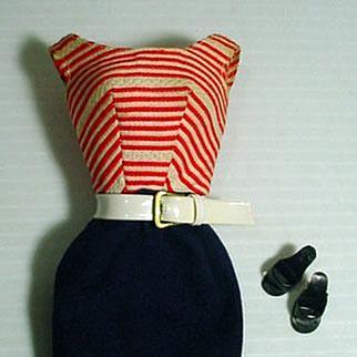 Mattel Vintage Barbie Outfit, Cruise Stripes, 1959-60