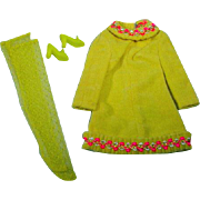VIntage Mattel Barbie Outfit, Yellow Mellow, 1969