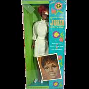 NRFB Diahann Carroll as Julia TNT Doll, Mattel, 1970