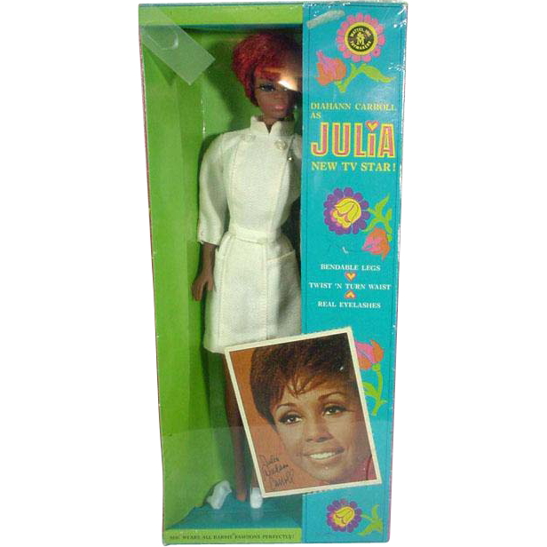 NRFB Diahann Carroll as Julia TNT Doll, Mattel, 1970