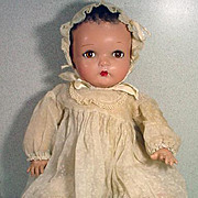 Charming Vintage Composition Baby Doll with Cloth Body, 1940's
