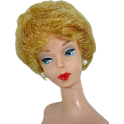 , 1961Early Ash Blond Barbie Bubble Cut, Red Lips, ,Mattel