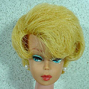 Blond Dark Pink Lip, Barbie Bubble Cut, Mattel 1962