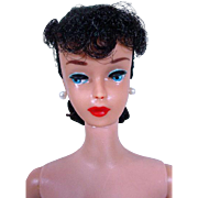 Vintage 1961 #5 Barbie Pony Tail, Jet Black Hair, Big Red Lips!