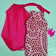 Vintage Barbie Outfit, Pink Sparkle, Complete, 1967