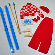 VIntage Barbie Get-Ups 'N Go Skiing Outfit, 1974, Mint & Complete