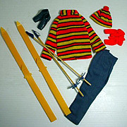 Vintage Mattel Ken Outfit, The Skiing Scene, 1971, Complete