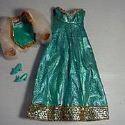 Vintage Mattel Barbie Outfit, Blue Royalty, 1970, Complete