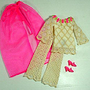 Vintage Mattel Barbie Outfit, The Lace Caper, 1970, Complete