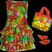Vintage Mattel Barbie Outfit, Bouncy-Flouncy, 1967, MOD!