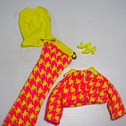 Vintage, Mattel Barbie Outfit, Check The Suit, 1970, Complete