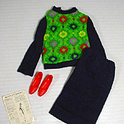 Vintage Mattel Barbie Outfit, Knit Hit, 1965, Complete!