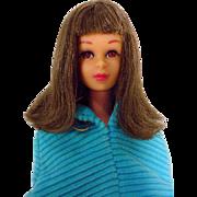 Brunette Bend Leg Francie in Corduroy Cape, Mattel 1966