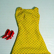 Vintage Mattel Barbie Outfit, Sun Shiner Polka Dot Dress