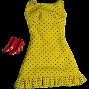 Vintage Mattel Barbie Outfit, Sun Shiner Polka Dot Dress