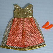 Vintage Mattel Francie Outfit, Gold Rush, 1969