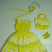 Vintage Mattel Francie Outfit, Fresh As A Daisy, 1966
