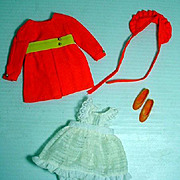 Vintage Mattel Skipper Outfit, Pants 'N Pinafore, 1969