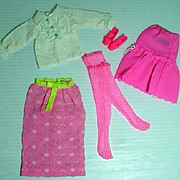 Vintage Mattel Francie Outfit, Long On Looks, 1969